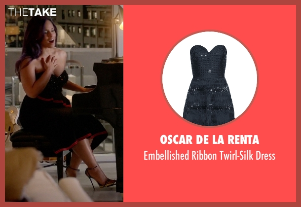 Oscar De La Renta black dress from Empire seen with Skye Summers (Alicia Keys)