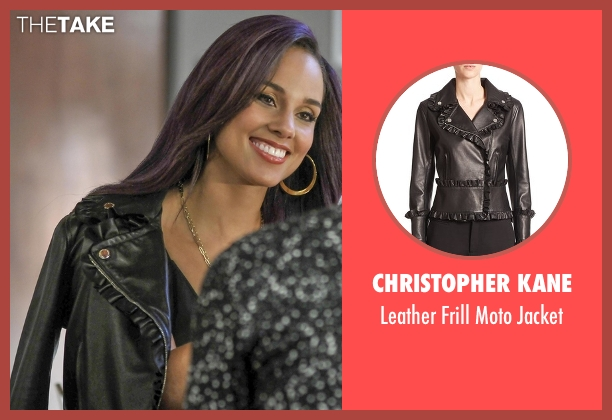 Christopher Kane black jacket from Empire seen with Skye Summers (Alicia Keys)