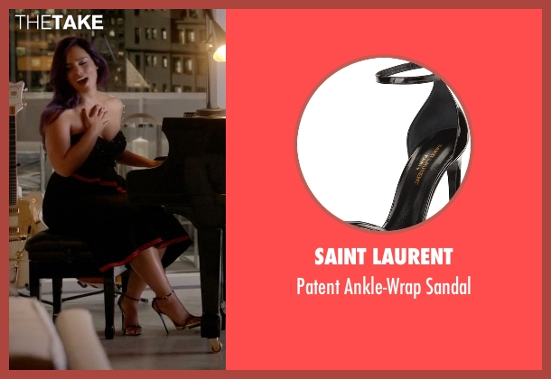 Saint Laurent black sandal from Empire seen with Skye Summers (Alicia Keys)