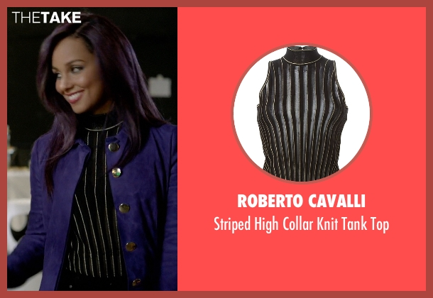 Roberto Cavalli black top from Empire seen with Skye Summers (Alicia Keys)