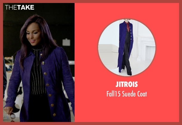Jitrois blue coat from Empire seen with Skye Summers (Alicia Keys)