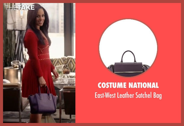 Costume National purple bag from Empire seen with Skye Summers (Alicia Keys)