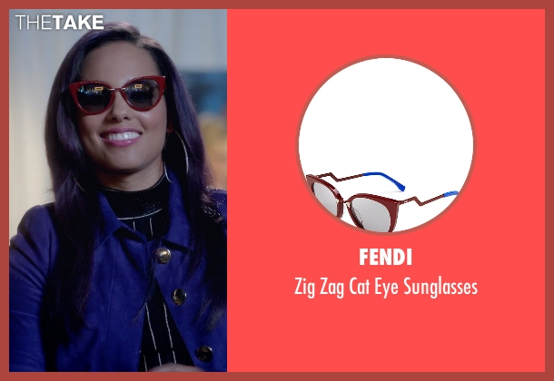 Fendi red sunglasses from Empire seen with Skye Summers (Alicia Keys)