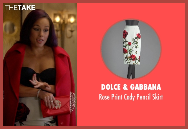 Dolce & Gabbana white skirt from Empire seen with Skye Summers (Alicia Keys)