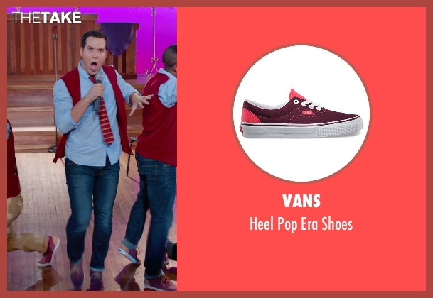 Vans red shoes from Pitch Perfect 2 seen with Skylar Astin (Jesse)