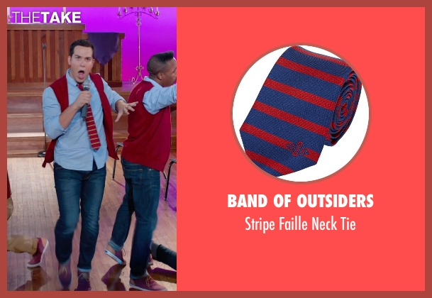 Band of Outsiders red tie from Pitch Perfect 2 seen with Skylar Astin (Jesse)