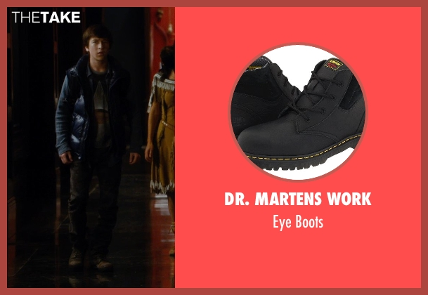 Dr. Martens Work black boots from Night at the Museum: Secret of the Tomb seen with Skyler Gisondo (Nick Daley)