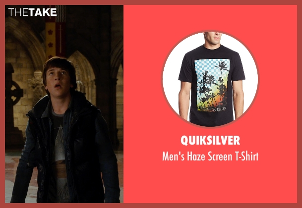 Quiksilver black t-shirt from Night at the Museum: Secret of the Tomb seen with Skyler Gisondo (Nick Daley)
