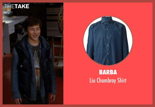 Barba blue shirt from Night at the Museum: Secret of the Tomb seen with Skyler Gisondo (Nick Daley)