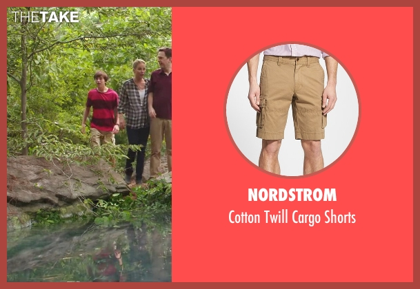 Nordstrom beige shorts from Vacation seen with Skyler Gisondo (James Griswold)
