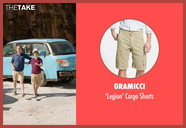 Gramicci beige shorts from Vacation seen with Skyler Gisondo (James Griswold)