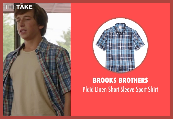 Brooks Brothers blue shirt from Vacation seen with Skyler Gisondo (James Griswold)