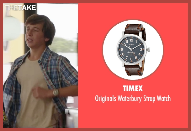 Timex brown watch from Vacation seen with Skyler Gisondo (James Griswold)