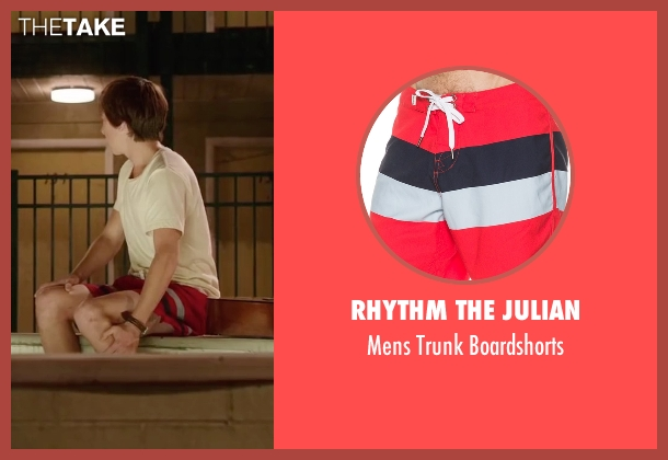 Rhythm The Julian red boardshorts from Vacation seen with Skyler Gisondo (James Griswold)