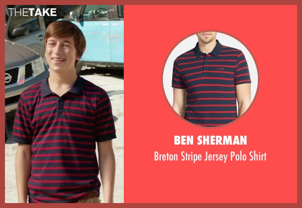 Ben Sherman red shirt from Vacation seen with Skyler Gisondo (James Griswold)