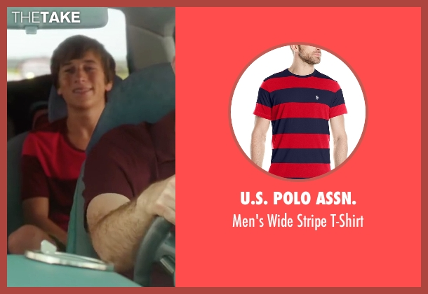 U.S. Polo Assn. red t-shirt from Vacation seen with Skyler Gisondo (James Griswold)