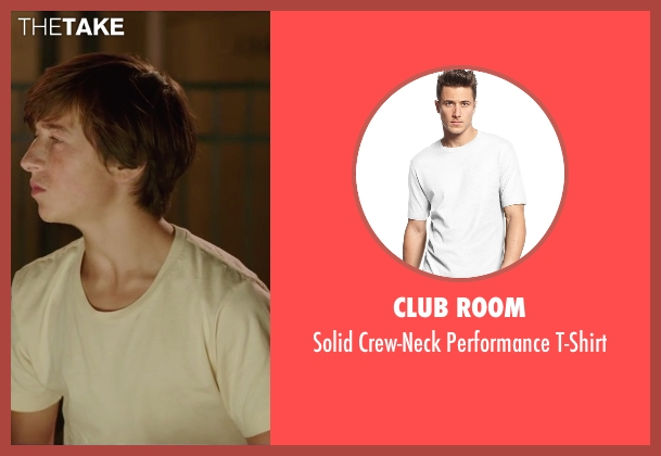 Club Room white t-shirt from Vacation seen with Skyler Gisondo (James Griswold)
