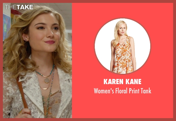 Karen Kane brown tank from The DUFF seen with Skyler Samuels (Jess)