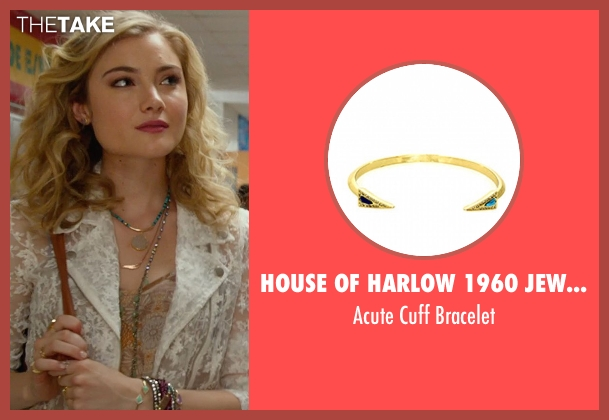 House Of Harlow 1960 Jewelry gold bracelet from The DUFF seen with Skyler Samuels (Jess)