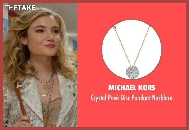 Michael Kors gold necklace from The DUFF seen with Skyler Samuels (Jess)