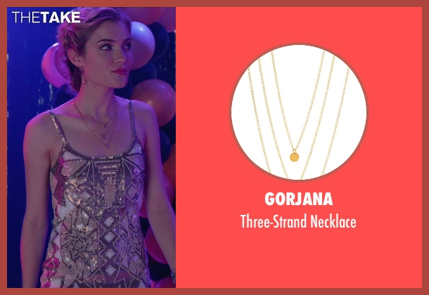 Gorjana gold necklace from The DUFF seen with Skyler Samuels (Jess)