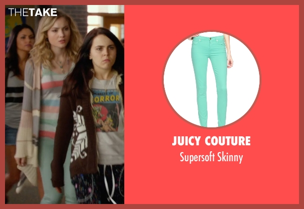 Juicy Couture green skinny from The DUFF seen with Skyler Samuels (Jess)