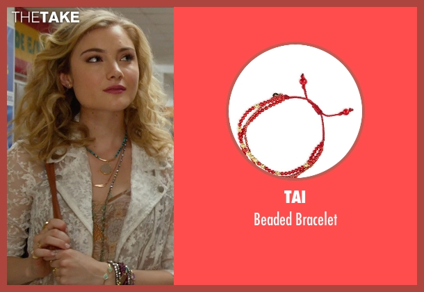 Tai	 red bracelet from The DUFF seen with Skyler Samuels (Jess)