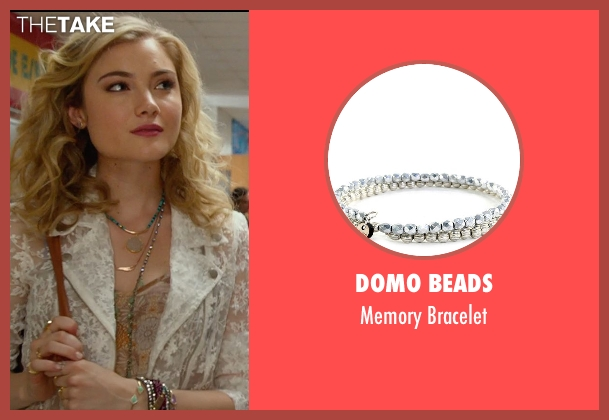 Domo Beads silver bracelet from The DUFF seen with Skyler Samuels (Jess)