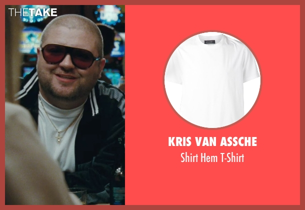 Kris Van Assche white t-shirt from The Town seen with Slaine (Albert 'Gloansy' Magloan)