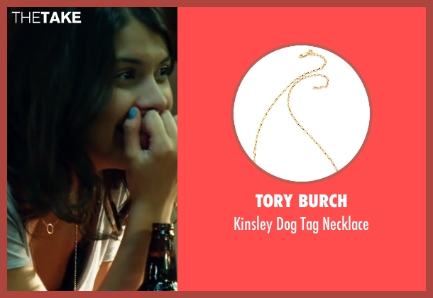 Tory Burch gold necklace from Project Almanac seen with Sofia Black-D'Elia (Unknown Character)