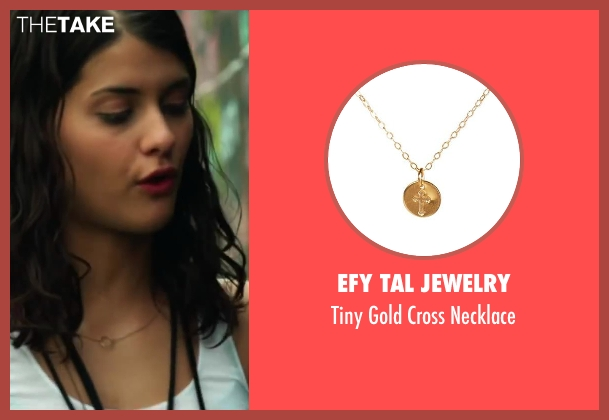 Efy Tal Jewelry gold necklace from Project Almanac seen with Sofia Black-D'Elia (Unknown Character)