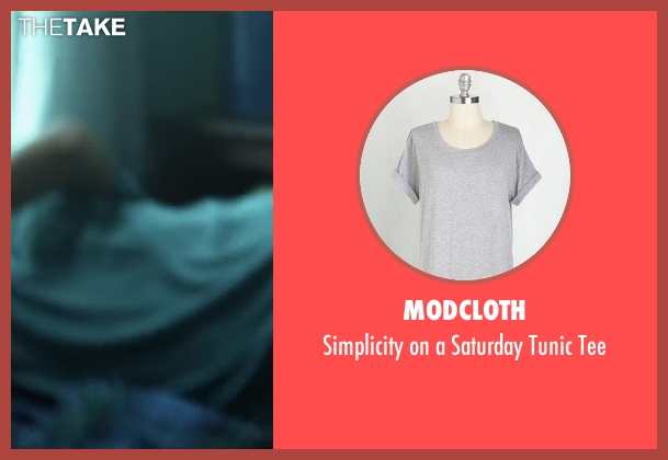 ModCloth gray tee from Project Almanac seen with Sofia Black-D'Elia (Unknown Character)