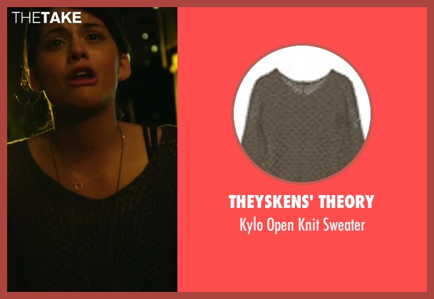 Theyskens' Theory green sweater from Project Almanac seen with Sofia Black-D'Elia (Unknown Character)