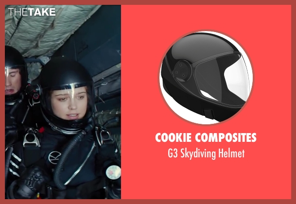 Cookie Composites black helmet from Kingsman: The Secret Service seen with Sophie Cookson (Roxy)