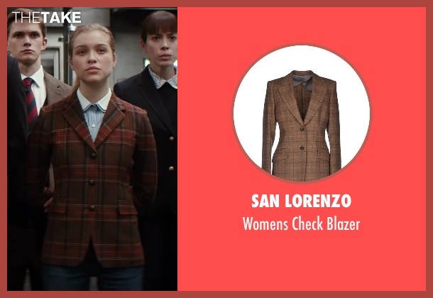 San Lorenzo brown blazer from Kingsman: The Secret Service seen with Sophie Cookson (Roxy)