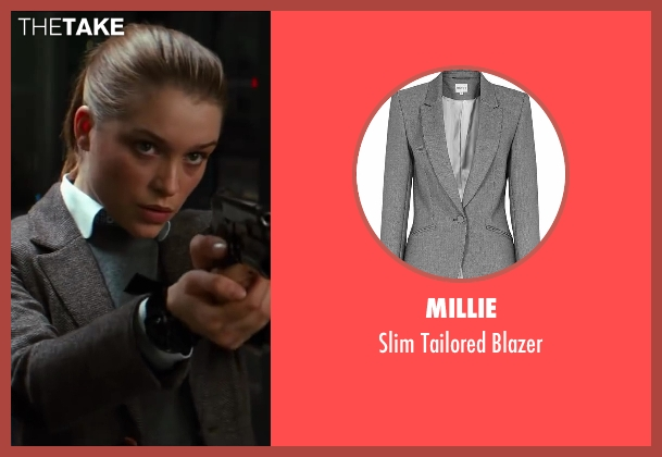 Millie gray blazer from Kingsman: The Secret Service seen with Sophie Cookson (Roxy)