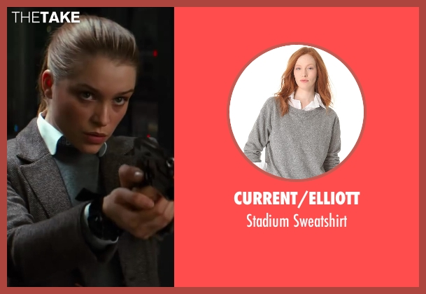 Current/Elliott gray sweatshirt from Kingsman: The Secret Service seen with Sophie Cookson (Roxy)