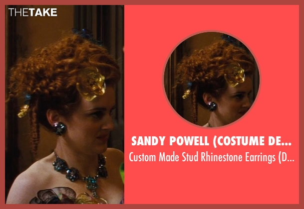 Sandy Powell (Costume Designer) blue earrings from Cinderella seen with Sophie McShera (Drizella)