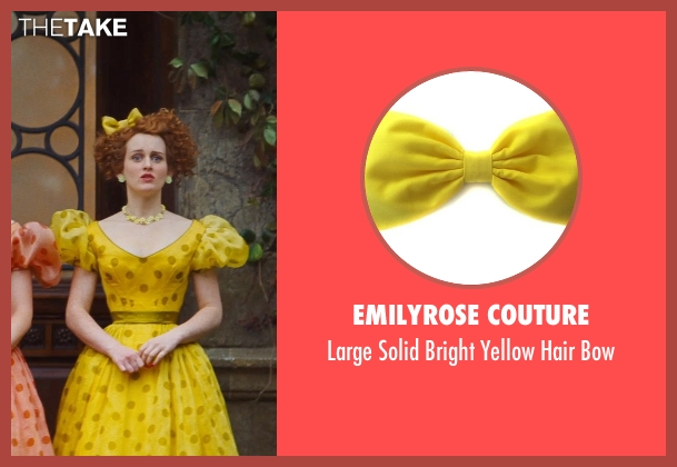 EmilyRose Couture yellow bow from Cinderella seen with Sophie McShera (Drizella)
