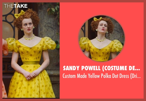 Sandy Powell (Costume Designer) yellow dress from Cinderella seen with Sophie McShera (Drizella)