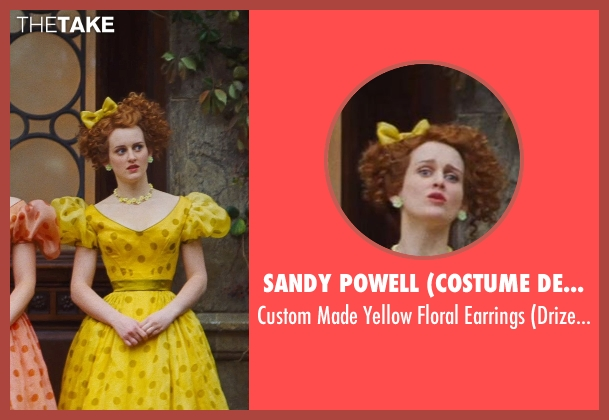 Sandy Powell (Costume Designer) yellow earrings from Cinderella seen with Sophie McShera (Drizella)