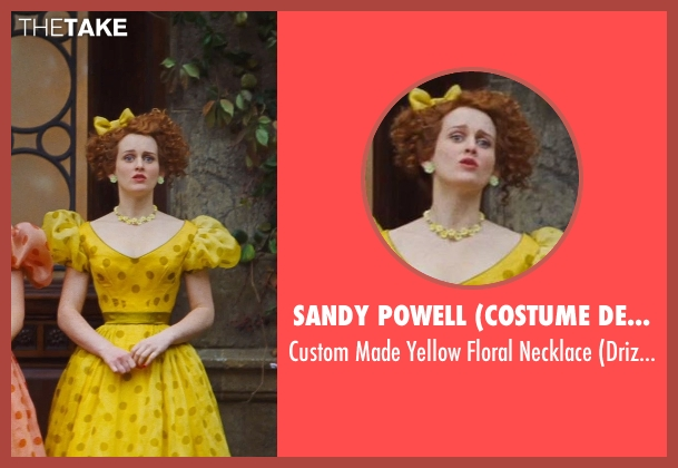 Sandy Powell (Costume Designer) yellow necklace from Cinderella seen with Sophie McShera (Drizella)