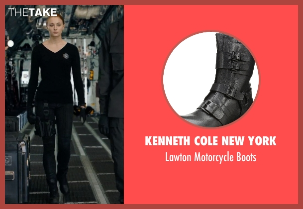 Kenneth Cole New York black boots from Barely Lethal seen with Sophie Turner (Heather)