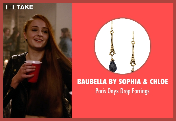 Baubella By Sophia & Chloe black earrings from Barely Lethal seen with Sophie Turner (Heather)