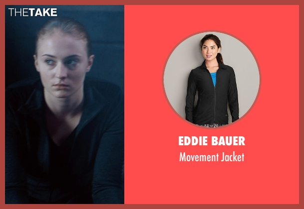Eddie Bauer black jacket from Barely Lethal seen with Sophie Turner (Heather)