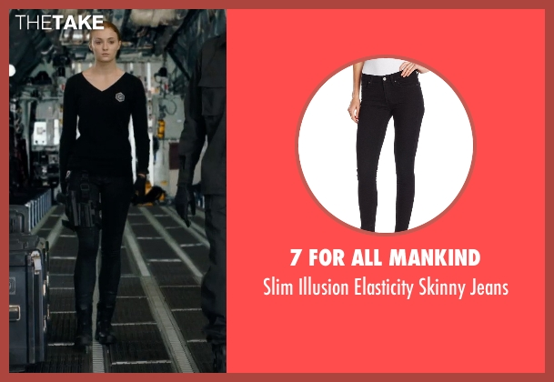 7 For All Mankind black jeans from Barely Lethal seen with Sophie Turner (Heather)