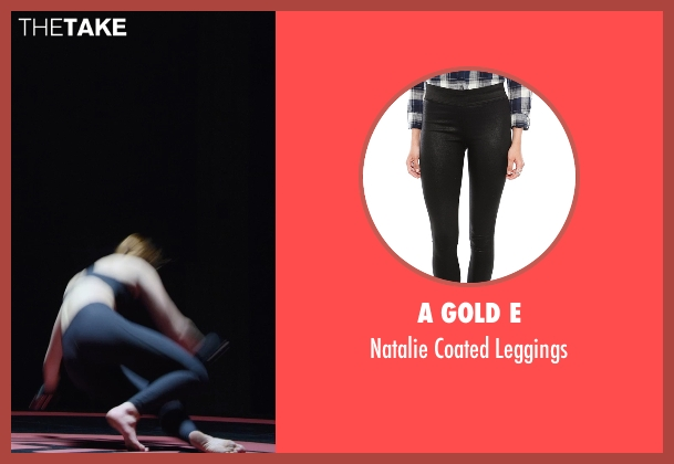 A Gold E black leggings from Barely Lethal seen with Sophie Turner (Heather)