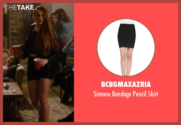 BCBGMAXAZRIA black skirt from Barely Lethal seen with Sophie Turner (Heather)