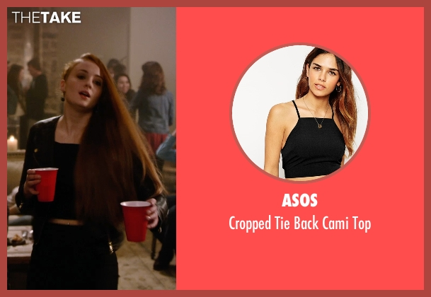 Asos black top from Barely Lethal seen with Sophie Turner (Heather)