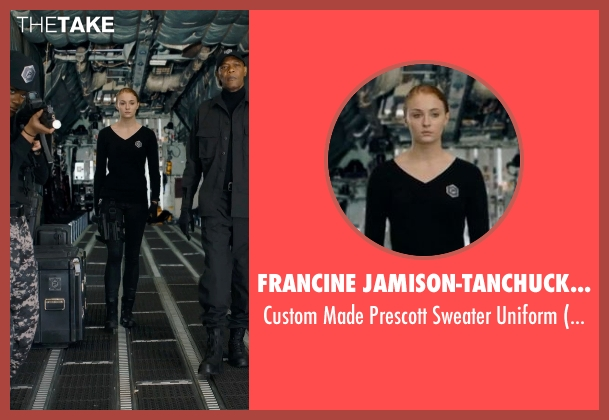 Francine Jamison-Tanchuck (Costume Designer) black uniform from Barely Lethal seen with Sophie Turner (Heather)